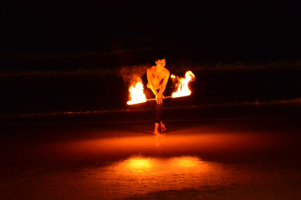 North White Sand Beach Koh Chang Fire Show