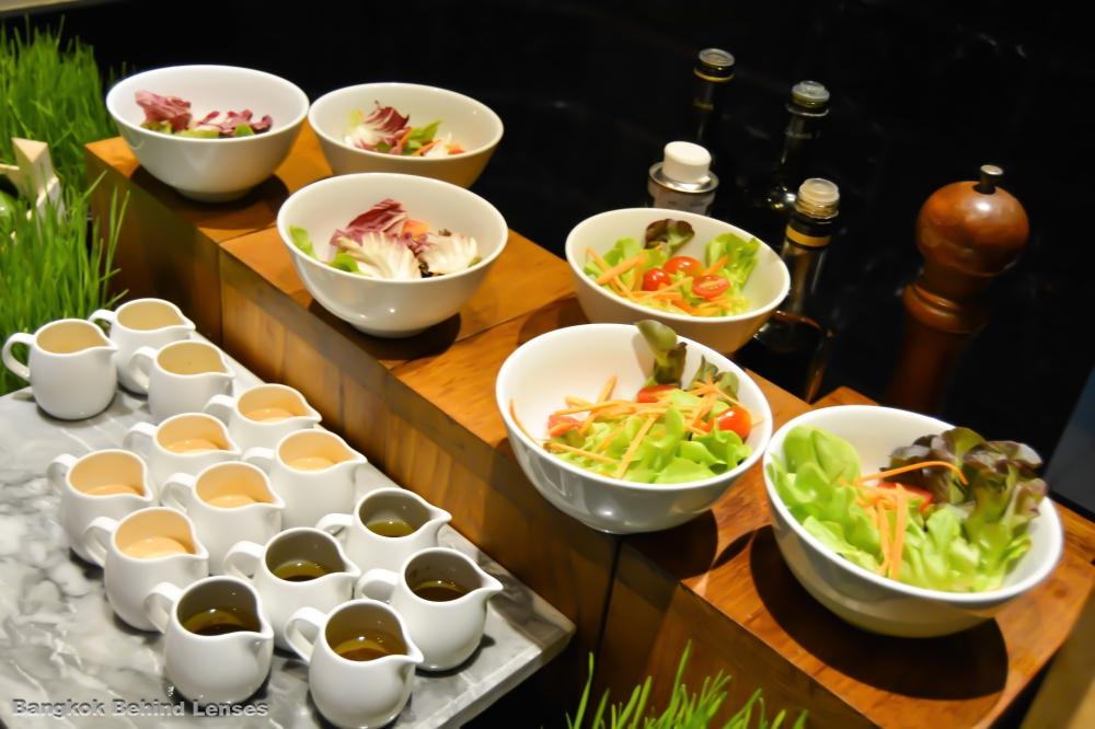 salad salad dressing breakfast the dining room grand hyatt erawan bangkok